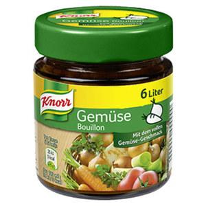 Knorr Gemüse- oder Rindsbouillon, Hühner Kraftbouillon oder Delikatess Brühe jedes Glas