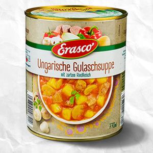 Erasco Ungarische Gulaschsuppe oder Chili Con Carne   versch. Sorten, jede 770-ml/800-g-Dose