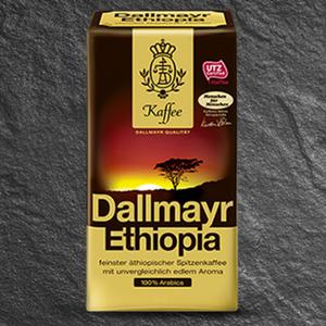 Dallmayr Ethiopia gemahlener Kaffee jede 500-g-Packung