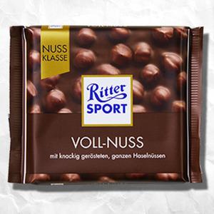 Ritter Sport Tafelschokolade Nuss Klasse versch. Sorten, jede 100-g Tafel