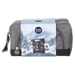 Nivea Men Geschenkpack Traveler Set mit Dusche, Deospray, Shampoo, Creme und Kulturtasche Je Set