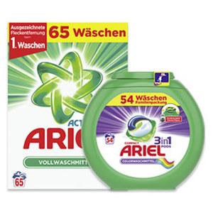 Ariel Waschmittel 54/65 Waschladungen, versch.Sorten, jede Packung