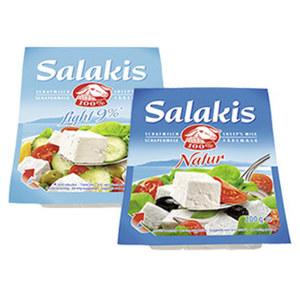 Salakis Schafskäse Französischer Weichkäse in Lake, 48 % Fett i. Tr./9 % Fett absolut, versch. Sorten, jede 180/200-g-Packung