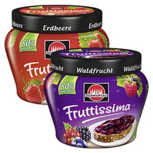 Schwartau Fruttissima versch. Sorten, jeder 250-g-Becher, nach Rabatt-Abzug beim Kauf von 5 Stück