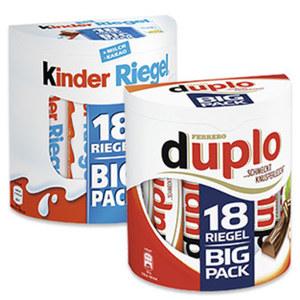 Duplo, Kinderriegel 18er oder Kinder Schoko Bons 300 g jede 328/420/300-g-Packung