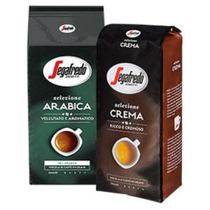 Segafredo Selezione Crema, Arabica oder Espresso ganze Bohne jede 1000-g-Packung