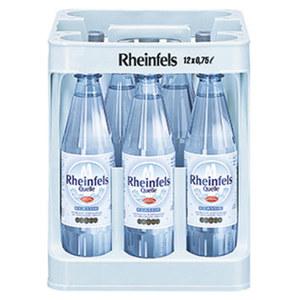 Rheinfels Mineralwasser versch. Sorten, 12 x 0,75/12 x 0,7 Liter