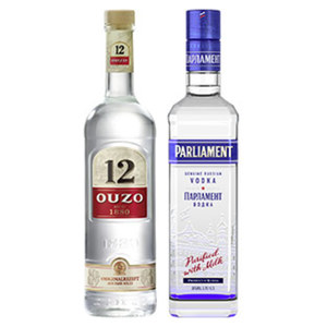 Ouzo 12 oder Gold 38/36 %  Vol., jede 0,7-l-Flasche