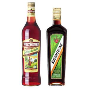 Wilthener Gebirgskräuterlikör oder Kuemmerling 3035 % Vol.,  jede 0,7-l-Flasche