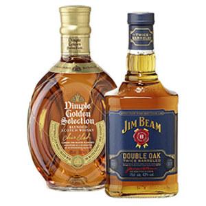 Jim Beam Double Oak oder Dimple Scotch Whisky 43/40 % Vol., jede 0,7-l-Flasche