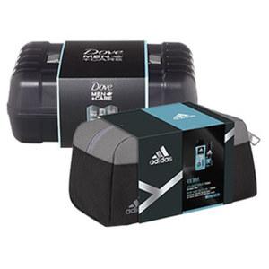 Adidas 2er Geschenkpack oder Dove Geschenkpack mit Werkzeugkiste mit Bodyspray und Showergel oder 2x Dusche und Deo, je Set