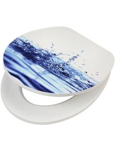 WC-Sitz »Wassertropfen«, MDF Toilettensitz mit Absenkautomatik