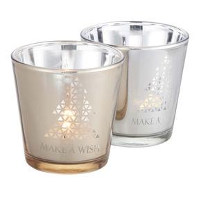 ProVida Teelichtglas in verschiedenen Farben