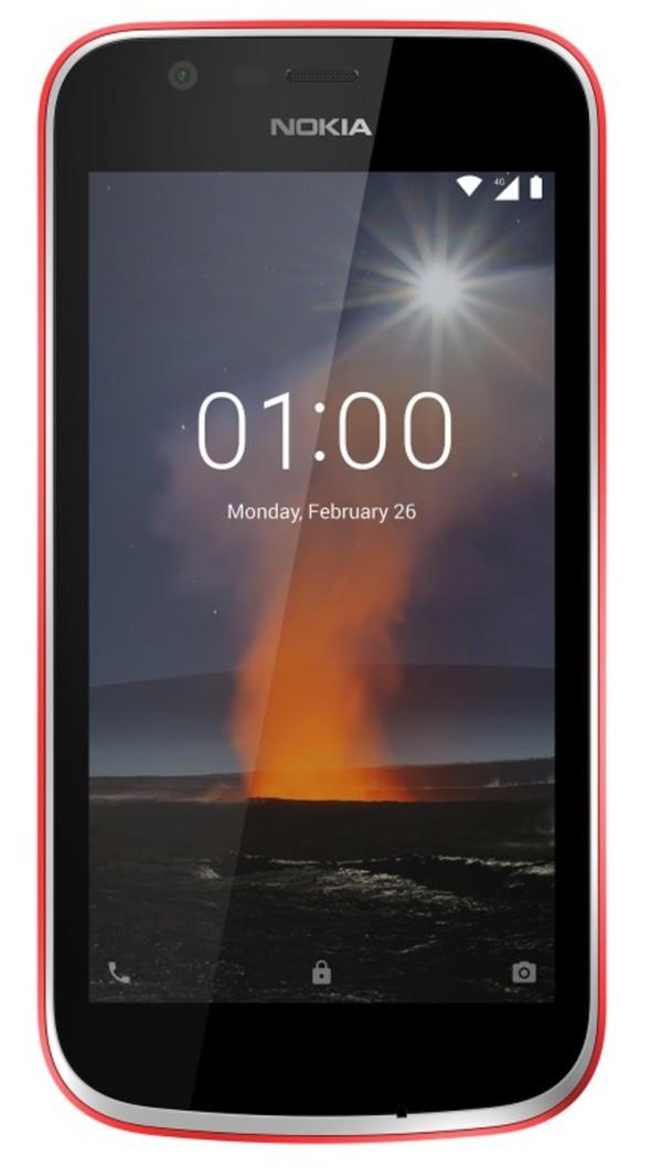 Nokia 1 Dual-SIM blau, Farbe:Rot
