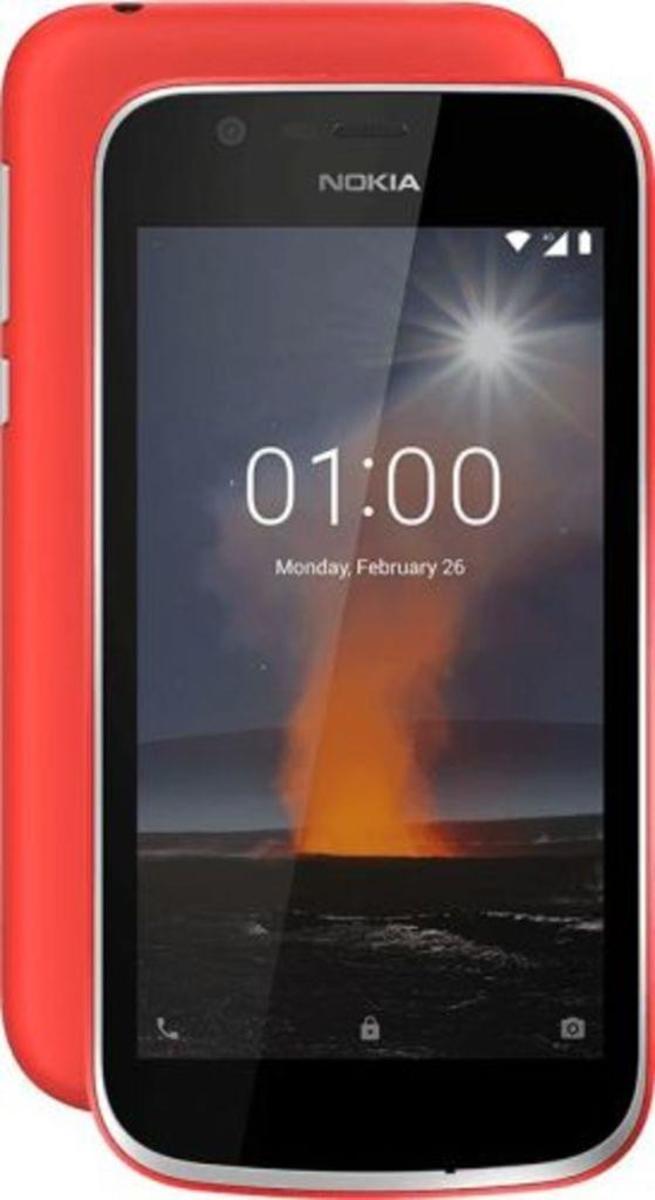 Bild 3 von Nokia 1 Dual-SIM blau, Farbe:Rot