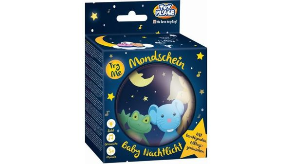 """Müller - Toy Place - Baby Nachtlicht """"Mondschein"""" mit beruhigenden Alltagsgeräuschen"""