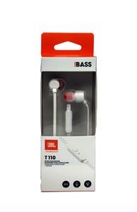 JBL T110 In Ear Kopfhörer mit Steuerung und Mikrofon Headset weiß