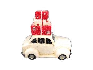 Weihnachten Deko-Auto aus Terracotta H 32,5 x B 40,5 x T 21,5 cm