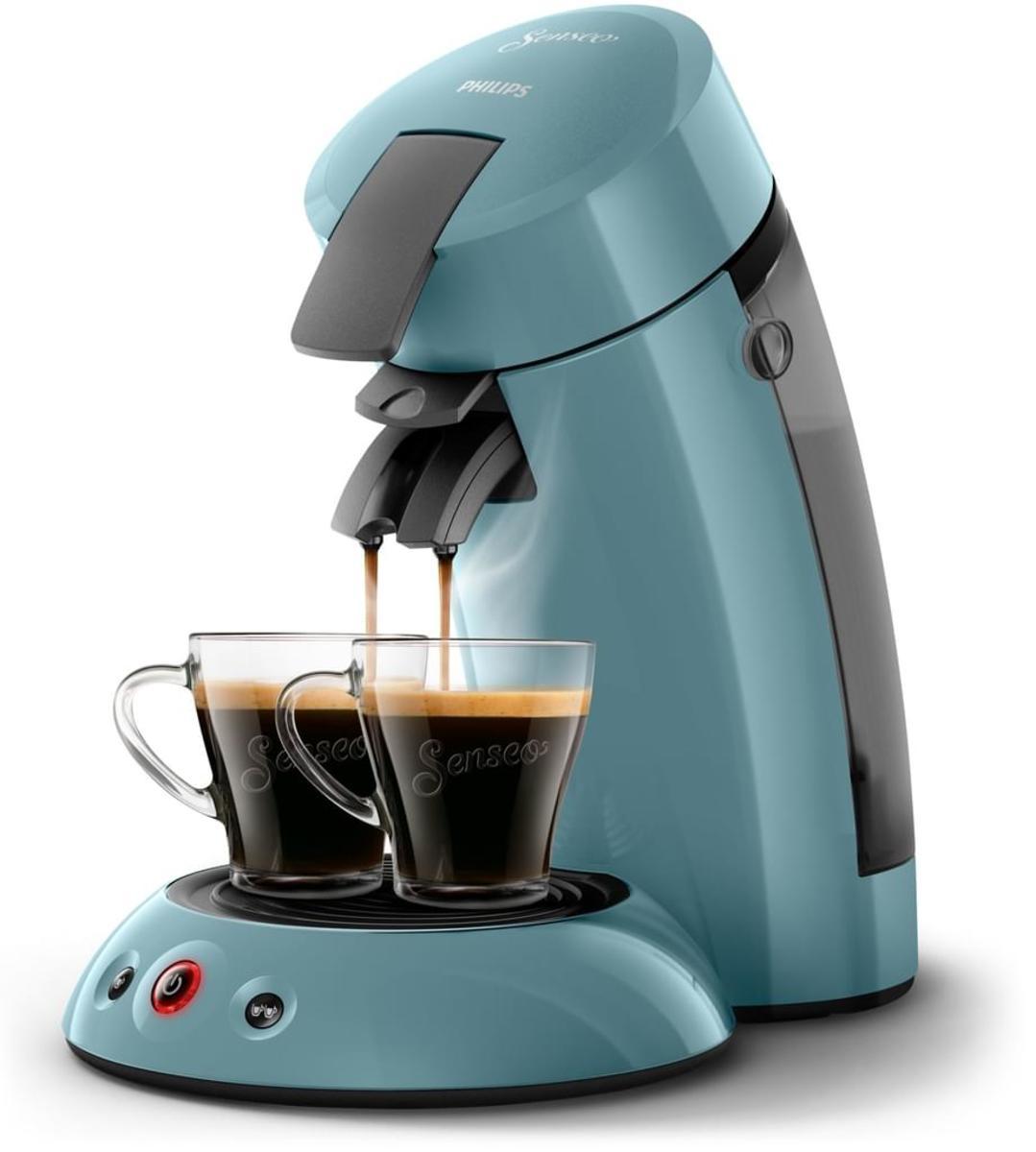 Bild 3 von Philips Senseo Kaffeepadmaschine HD 6553/XX Original, Farbe Petrol