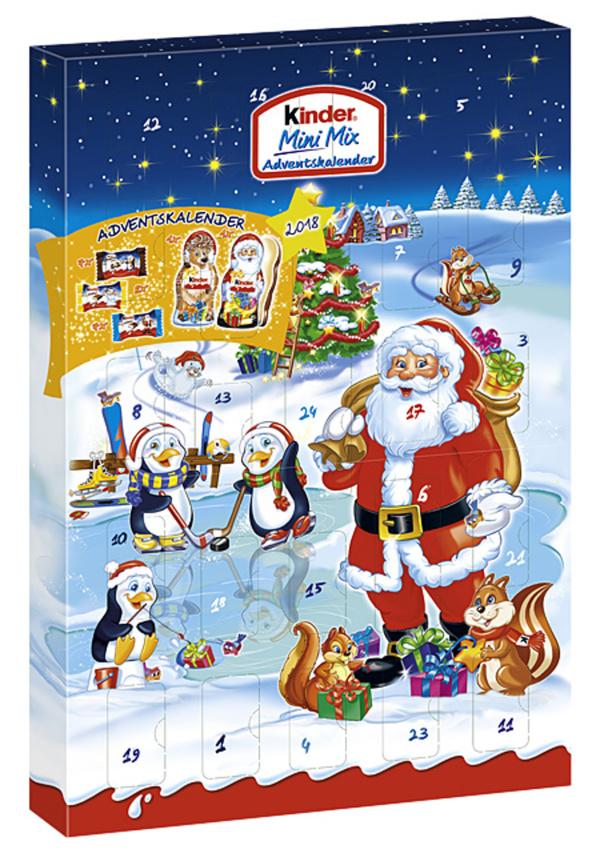 Kinder Weihnachtskalender.Ferrero Kinder Adventskalender Mini Mix 152 G