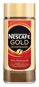 Nescafé Gold entkoffeiniert | löslicher Kaffee | 200g-Glas