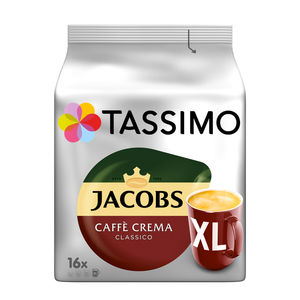 Tassimo Jacobs Caffè Crema Classico XL | 16 T Discs
