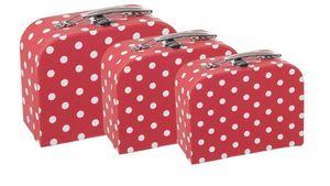 BIECO Koffer mittelgroß mit Punkten