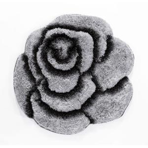 Teppich Rose Grau ca. Ø 70 cm