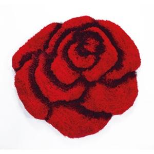 Teppich Rose Rot ca. Ø 70 cm