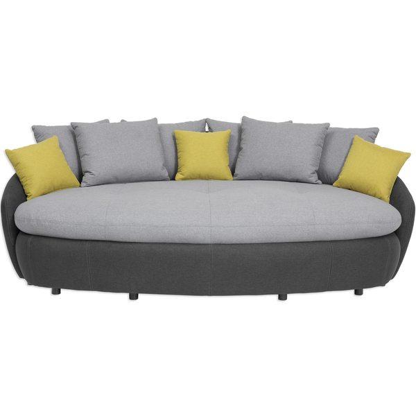 Big Sofa Hellgrau Dunkelgrau Inklusive 9 Kissen