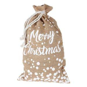 Weihnachts-Jutebeutel Merry Christmas 34x55cm