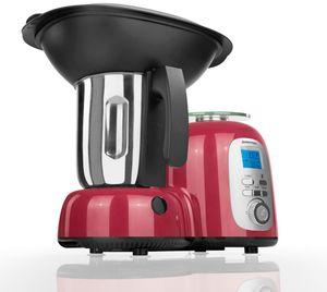 GOURMETmaxx Thermo-Multikocher Premium 10in1 mit Rechts-/Linkslauf, rot/schwarz
