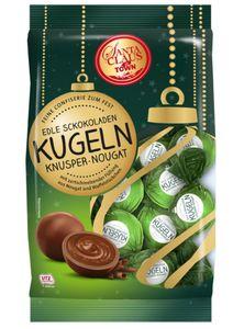 Santa Claus in Town Feine Kugeln Knusper-Nougat, 150g