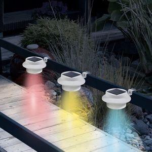 EASYmaxx Solar-Leuchte Dachrinne rund 3er-Set 1,2V weiß Farbwechsel