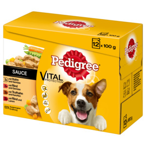 Pedigree Hundefutter Vital Protection in Sauce Adult 12x100g