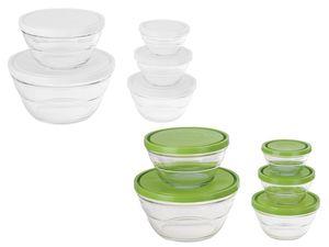 ERNESTO® Glas-Frischhaltedosen, 5-teilig