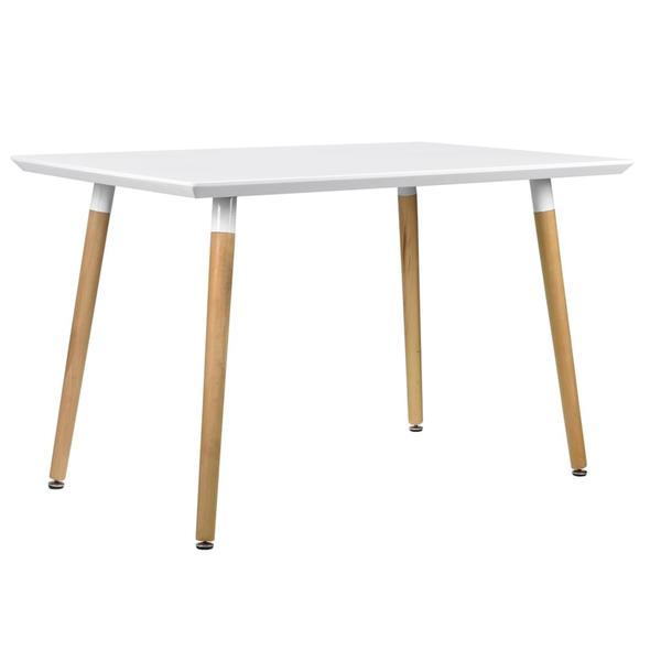 [en.casa] Esstisch Mit 4 Stühlen Grau Gepolstert 120x80cm Kunstleder  Esszimmer Essgruppe Küche