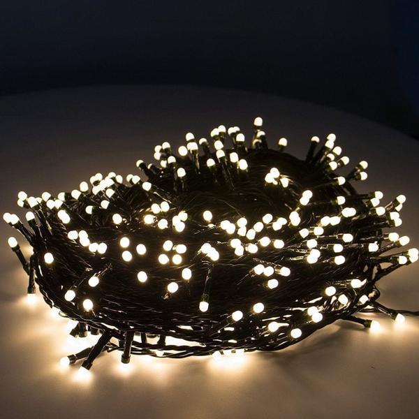 Weihnachtsbeleuchtung Mit Timer.Snowera 400er Led Lichterkette Weihnachtsbeleuchtung Für Innen Und Außen Mit Zuschaltbarem Timer Perfekt Für Den Weihnachtsbaum Tannenbaum