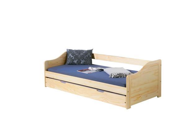 Interlink Bett 90x200 Cm Kinderbett Funktionsbett Sofabett Massivholzbett Gastebett Natur