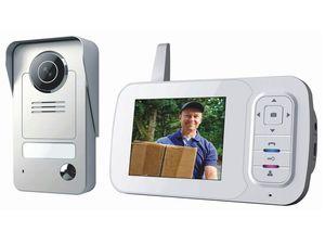 Smartwares Drahtlose Video Türgegensprechanlage mit Monitor SW VD38W