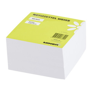 Minea Notizzettelblock 500 Blatt 7,5 x 7,5 cm