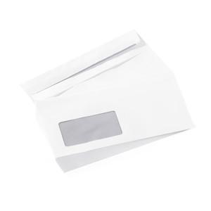Minea Briefumschläge mit Fenster 25 Stück DIN Lang
