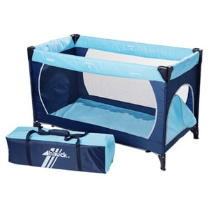 Hauck Reisebett Dream'n Play Plus 60 x 120 cm, Blau/Hellblau