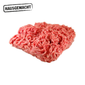 Deutsches frisches Hackfleisch,Mett, grobe Bratwurst oder Hacksteaks