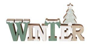 Schriftzug - WINTER - aus Holz - Maße: ca. 29 x 2,3 x 14,5 cm
