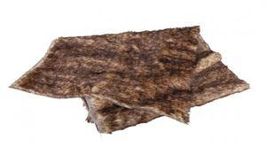 Tischläufer aus Fellimitat - braun - Maße: ca. 120 x 40 cm