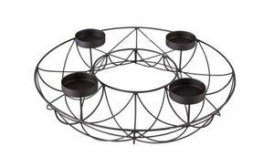 Metallkranz - schwarz - Durchmesser ca. 36 cm