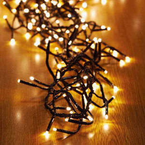 480er LED-Cluster-Lichterkette warmweiß mit 8 Funktionen für Außen & Innen