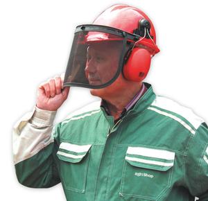 Forsthelm - schützt Gesicht und Ohren