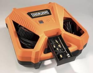 Kompressor Air Box 1100 Watt + HD Autokamera inklusive Zubehör + Zurrgurt-Set, 5-teilig GRATIS dazu Warnfahne